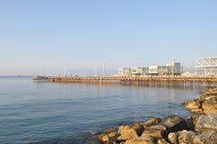 Limassol marina i Cypern Fotografering för Bildbyråer