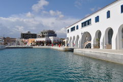 Limassol marina i Cypern Arkivfoton