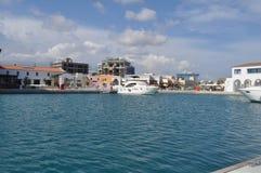 Limassol marina i Cypern Royaltyfria Bilder