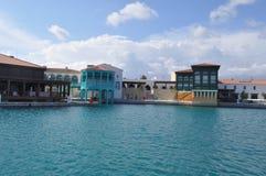 Limassol marina i Cypern Arkivfoto