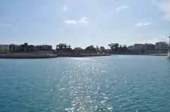 Limassol marina i Cypern Arkivbild