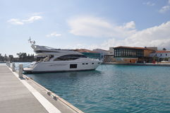 Limassol marina i Cypern Arkivbilder