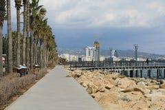 Limassol Molos promenad arkivfoto