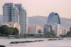 Limassol Panorama da cidade velha Opinião do telhado foto de stock royalty free