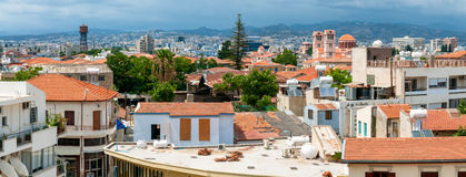 Limassol Panorama de vieille ville Vue de dessus de toit cyprus images stock