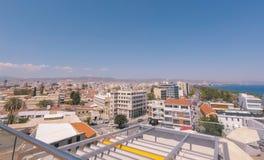 Limassol Panorama van oude stad Dakmening stock foto's