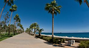 Limassol-Promenaden-Gasse, Molos, Zypern Stockfotos