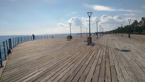 Limassol stad in Cyprus naast Middellandse Zee Stock Foto's
