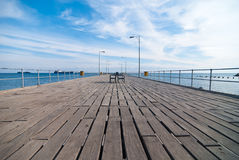 Limassol starego portu molo Zdjęcie Royalty Free