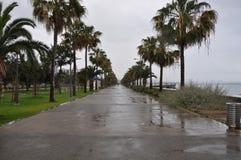 Limassol-Strand Lizenzfreie Stockfotos