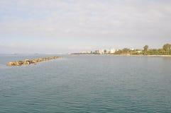 Limassol-Strand Stockbild
