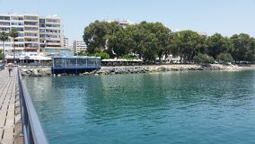 Limassol-Strand Lizenzfreies Stockbild