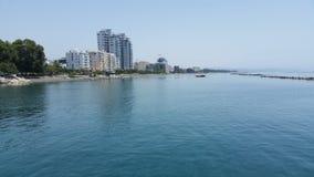 Limassol-Strand Stockfoto