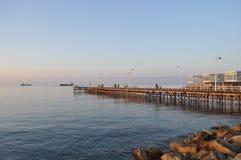Limassol-Strand Stockfotos