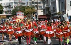 Limassol, Zypern, am 26. Februar 2017: Jährliches Limassol-Karnevals-Festival Karnavali Lemesou lizenzfreie stockbilder