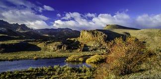 Limay-Fluss, Patagonia, Argentinien Lizenzfreie Stockbilder