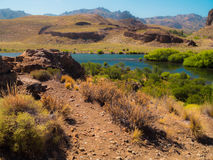 Limay river Royalty Free Stock Image