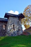 Limbazi middeleeuws kasteel Stock Foto's