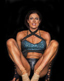Limber Fitness Athlete. Alison Burns is limber and flexible as she competes in the Fitness finals of the 2016 NPC Universe held in Teaneck, New Jersey, on July 2 Stock Image