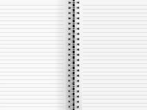 Limbindning för tomt papper Fotografering för Bildbyråer