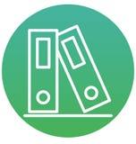Limbindningar symbol för vektor för mappmappar isolerad kan lätt ändras eller redigera stock illustrationer