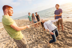Limbo at Beach Royalty Free Stock Photos