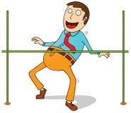 Limbo dance. Illustration of a man doing limbo dance Stock Photos