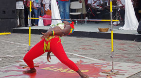 Limbo Dancer in Barbados. Limbo Dancing at Heroes Square in Barbados Royalty Free Stock Images
