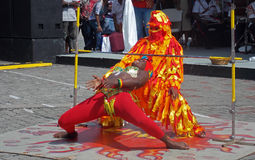 Limbo Dancer in Barbados. Limbo Dancing at Heroes Square in Barbados Stock Images