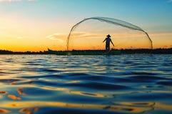 Limboto озера рыболов Стоковое Изображение