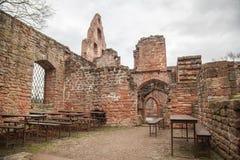 Limburg castle ruins Stock Photos