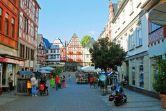 Limburg An Der Lahn city in Germany view Royalty Free Stock Images