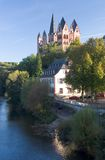 Limburg Dom Portrait. Cathedral at Limburg, Germany, with River Lahn Stock Photos