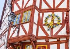 Limburg Lahn, korsvirkes- hus Arkivbilder