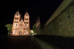 Limburger dom germany at night Royalty Free Stock Images