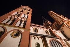 Limburger dom germany at night Royalty Free Stock Photography