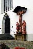 Limburgo una chiesa della città di Der Lahn nella vista della Germania Immagini Stock