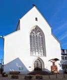 Limburgo una chiesa della città di Der Lahn nella vista della Germania Immagine Stock Libera da Diritti