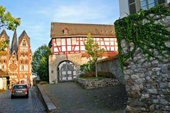 Limburgo una città di Der Lahn nella vista della Germania Fotografia Stock