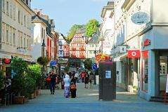 Limburgo una città di Der Lahn nella vista della Germania Fotografie Stock Libere da Diritti