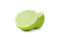 Lime. On a white background Stock Photography