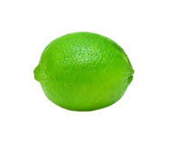 Lime. Ripe lime isolated on white background Royalty Free Stock Images