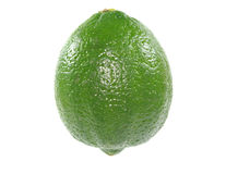 Lime. Single lime isolated on white background Royalty Free Stock Image