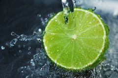 Lime. Fresh fruit with fresh water Stock Photo