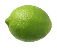 Lime. Isolated on a white background. Isolation is on a transparent layer in the PNG format royalty free stock photo