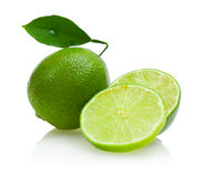 Lime. Isolated on white background Royalty Free Stock Photo