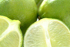 Lime. Slice royalty free stock photography