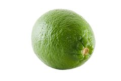 Lime. Close-up of a lime isolated on white background royalty free stock photography