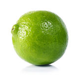 Lime. Green lime on white background Royalty Free Stock Images