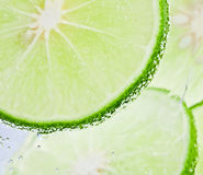 Lime. Fresh lime and soda water Royalty Free Stock Photo